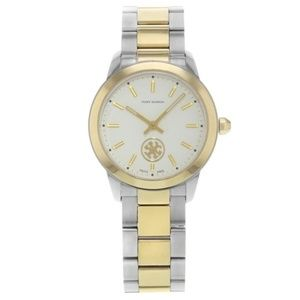 Tory Burch White Collins Cream Dial Steel Watch